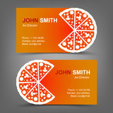 Business card. Pizza stock illustration