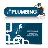 A business card for the plumber Stock Photo