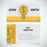 Business card print template. Art director Stock Image