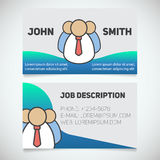 Business card print template with company personnel logo Royalty Free Stock Photography
