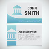 Business card print template with courthouse logo Stock Photos