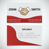 Business card print template Royalty Free Stock Photos