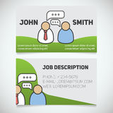 Business card print template with interview logo Stock Image