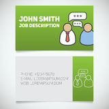 Business card print template with interview logo Stock Photography