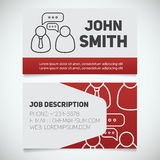 Business card print template with interview logo Royalty Free Stock Photography