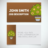 Business card print template with money tree logo Stock Photography