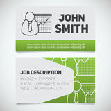 Business card print template with presentation graph logo Royalty Free Stock Photo