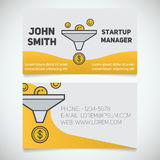 Business card print template Royalty Free Stock Image