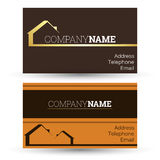 Business card real estate sales Stock Image