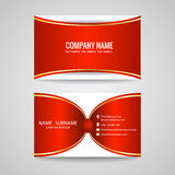 Business card red gold ribbon vector art design Royalty Free Stock Photo