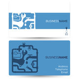 Business card for repair plumbing Royalty Free Stock Photos
