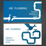 Business card for repair plumbing. Business card to repair plumbing, vector Stock Image