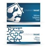 Business card repair waterpipe Royalty Free Stock Photos