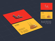 Business card for Restaurent. Royalty Free Stock Photos