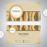 Business card - retro antique template Stock Images