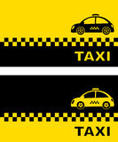 Business card with retro taxi car Royalty Free Stock Photography