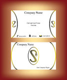 Business card with S letter made of zip Stock Image