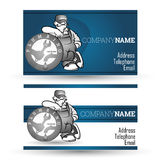Business card for sanitary technician Royalty Free Stock Image