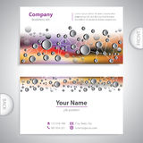 Business card - science and research - abstract background Stock Image