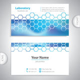 Business card - science and research - chemical formulas Stock Images