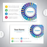 Business card - science and research - laboratory equipment Royalty Free Stock Photo