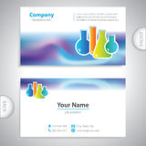Business card - science and research - Laboratory flasks Royalty Free Stock Images