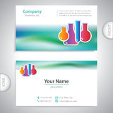 Business card - science and research - laboratory research Royalty Free Stock Images