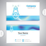 Business card - Sea buoys - marine buoy - maritime symbols Stock Photography