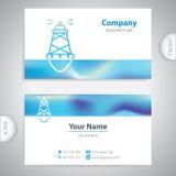 Business card - Sea buoys - marine buoy - maritime symbols Stock Photography