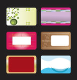Business card set stock image