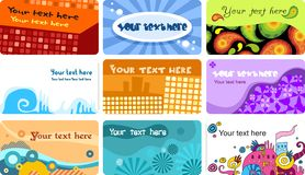 Business card set. Vector Illustration of a business card set Royalty Free Stock Image