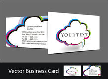 Business card set. Vector business card set , elements for design Stock Photography
