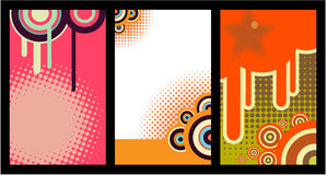 Business card (set 17). Business cards set, abstract background Stock Image