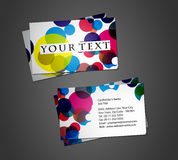 Business card set. Vector business card set, elements for design Stock Photos