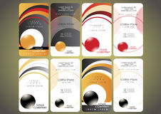 Business card set Stock Images