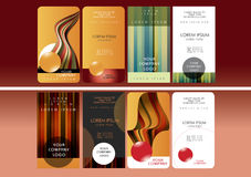 Business card set Royalty Free Stock Images