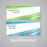 Business card set. Stock Photo