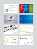 Business card set. Set of business cards.   More business cards in my portfolio Stock Photo