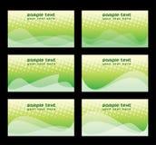 Business card set Stock Photo