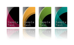Business card set Royalty Free Stock Photos