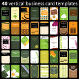 Business Card Set. Set of 40 Colorful Business Cards in Editable Vector Format Royalty Free Stock Photo