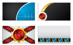 Business card set with ekg symbol Royalty Free Stock Photo