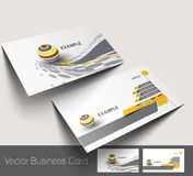 Business card set royalty free illustration