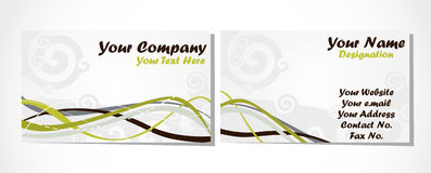 Free Business Card Set On White Royalty Free Stock Photography - 13418257