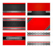 Business card set - Rally driver templates. Vector 10 eps Royalty Free Stock Images
