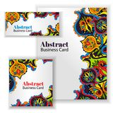 Business Card Set. Vector illustration. Royalty Free Stock Images