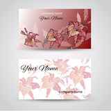 Business Card Set.  Vector illustration. EPS10 Stock Photos