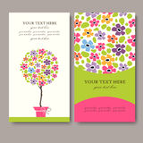 Business Card Set.  Vector illustration. EPS10 Royalty Free Stock Photos
