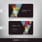 Business Card Set. Vector illustration. Stock Images