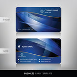 Business Card Set. Vector illustration. Royalty Free Stock Image
